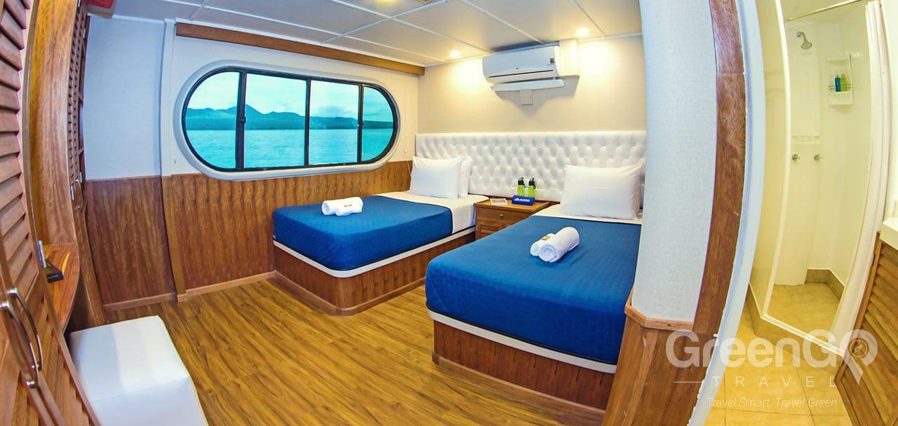 Tip Top 2 Galapagos Catamaran - Twin Cabin 3 & 4 - Main Deck
