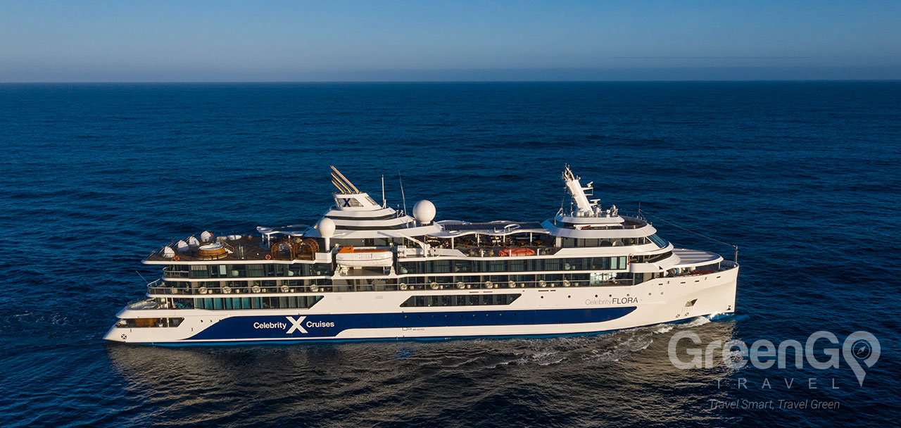 Celebrity Flora Galapagos Ship - Panoramic View