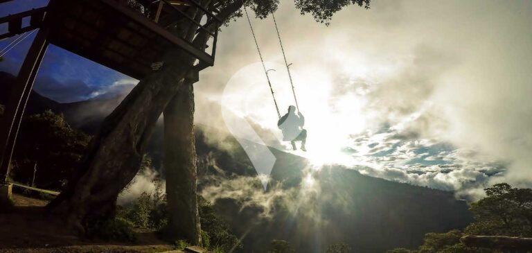 Tree swing in Ecuador places to visit in Ecuador