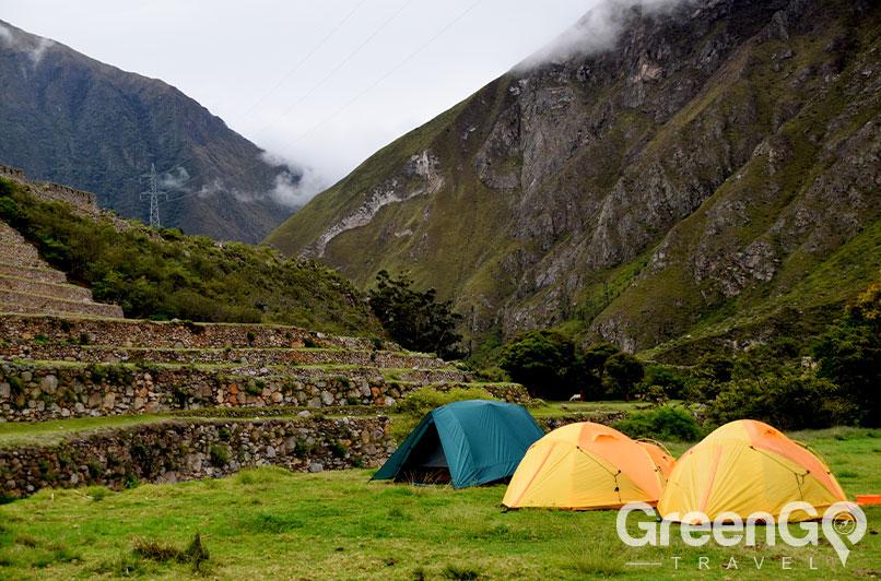 Hiking spot on Inca trail