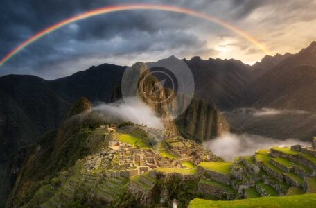 Inca-trail-guide-in-2020-Rainbow over machu picchu