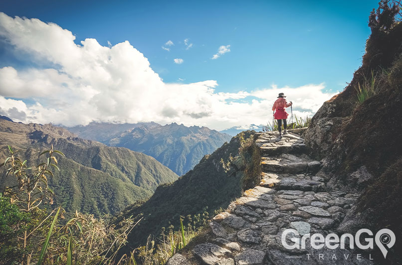 Hiker on the Inca trail