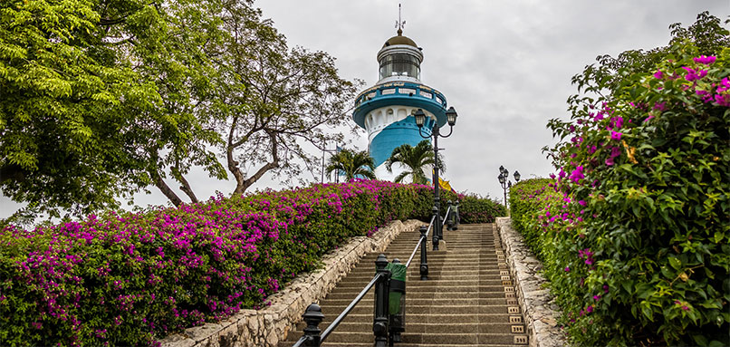 Steps leading to Guayaquil lighthouse