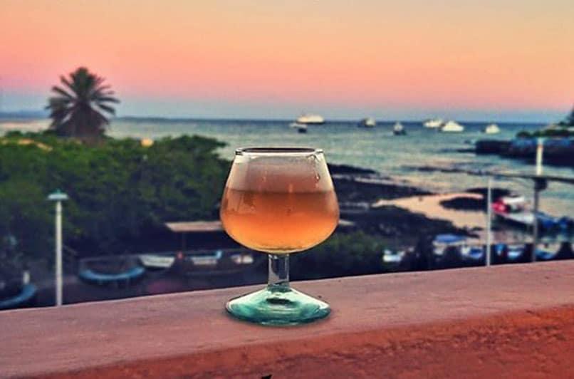 Refreshing beer at the Santa Cruz Brewery